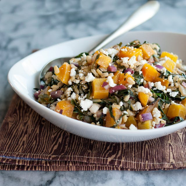 Rosh Hashanah Menu ideas: Roasted Beet and Barley Salad from Emma Christensen at the Kitchn.