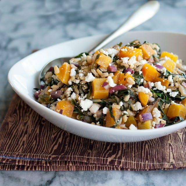 Rosh Hashanah Menu ideas: Roasted Beet and Barley Salad from Emma Christensen at the Kitchn.