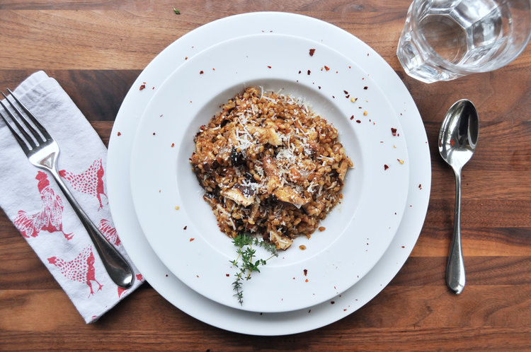 Simple ways to use farro: FarroRisottowithWild Mushrooms | © Anne Wolfe Postic