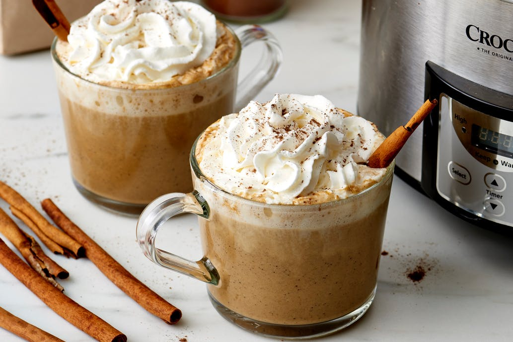 Creative ways to use canned pumpkin in recipes: slow cooker pumpkin spice lattes from the Kitchn