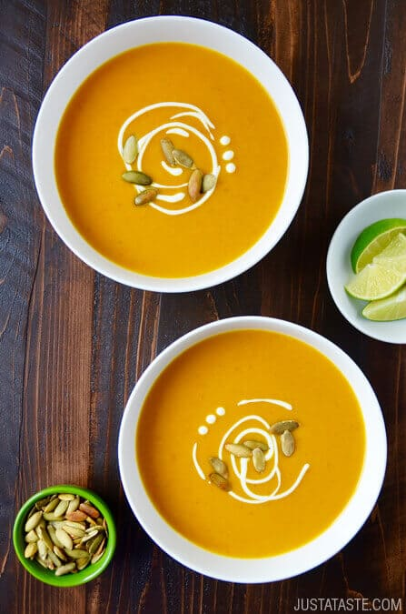 Creative ways to use canned pumpkin in recipes: Thai pumpkin soup | Just a Taste