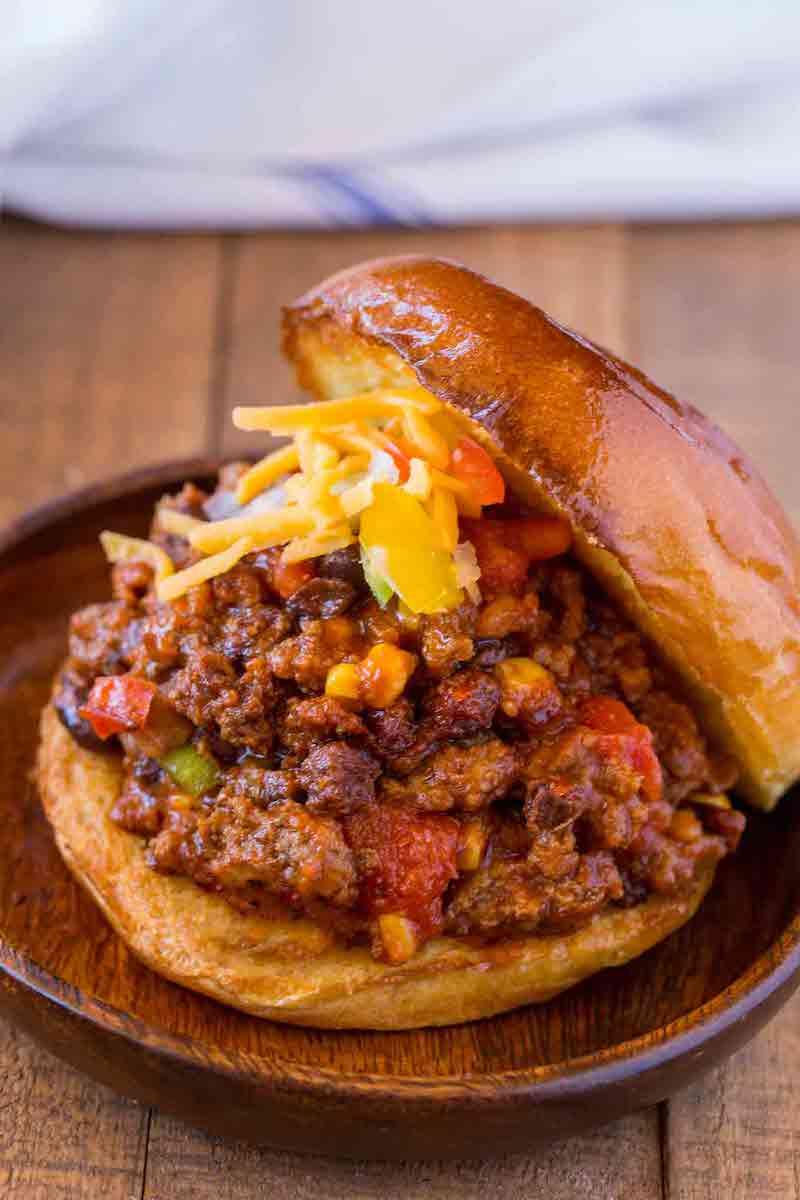 Weekly meal plan: Tex Mex Sloppy Joes at Dinner then Dessert