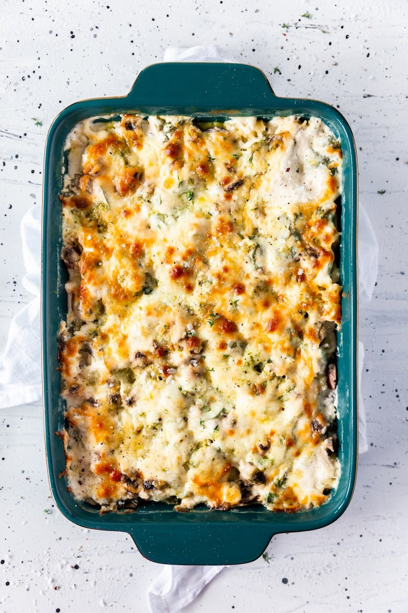 Weekly meal plan: Chicken pasta bake at Powered by Mom