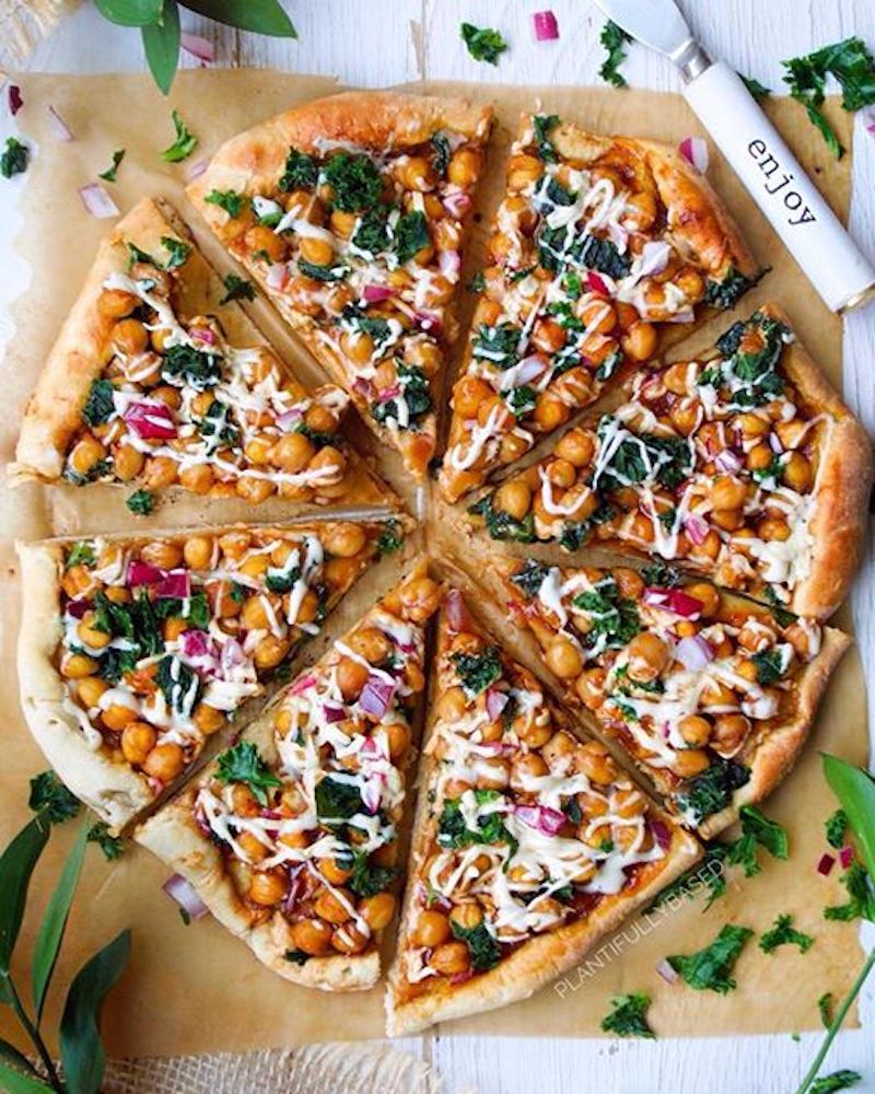 Weekly meal plan: BBQ Chickpea Pizza at Plantifully Based