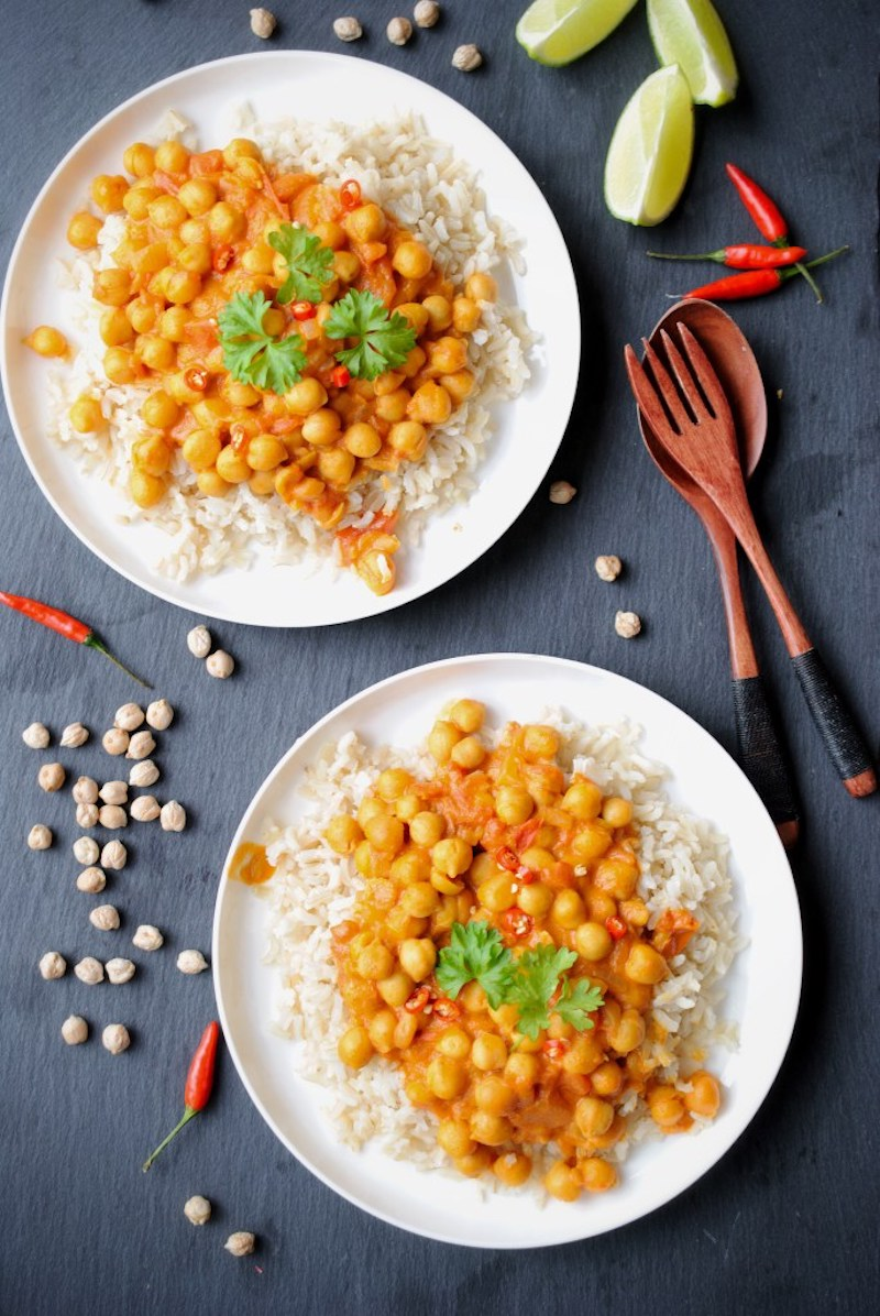 Weekly meal plan: Vegan Chickpea Curry at Yummy Taste Food