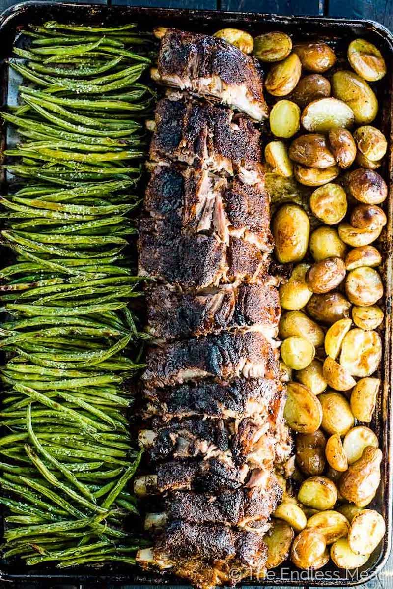 Weekly meal plan: Sheet pan ribs at The Endless Meal