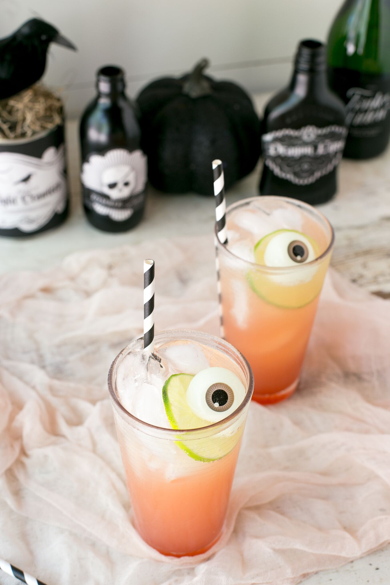 Bloody Crush kids' Halloween mocktail recipe made from Nathalie's Blood Orange Juice to get that gorgeous color | Cool Mom Eats