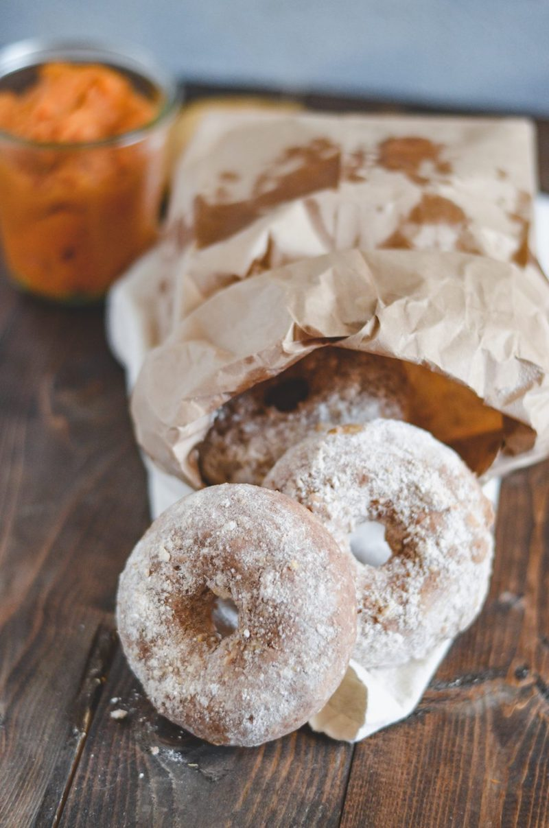 Best fall donut recipes: Apple Cinnamon Powdered Donuts at My Modern Cookery