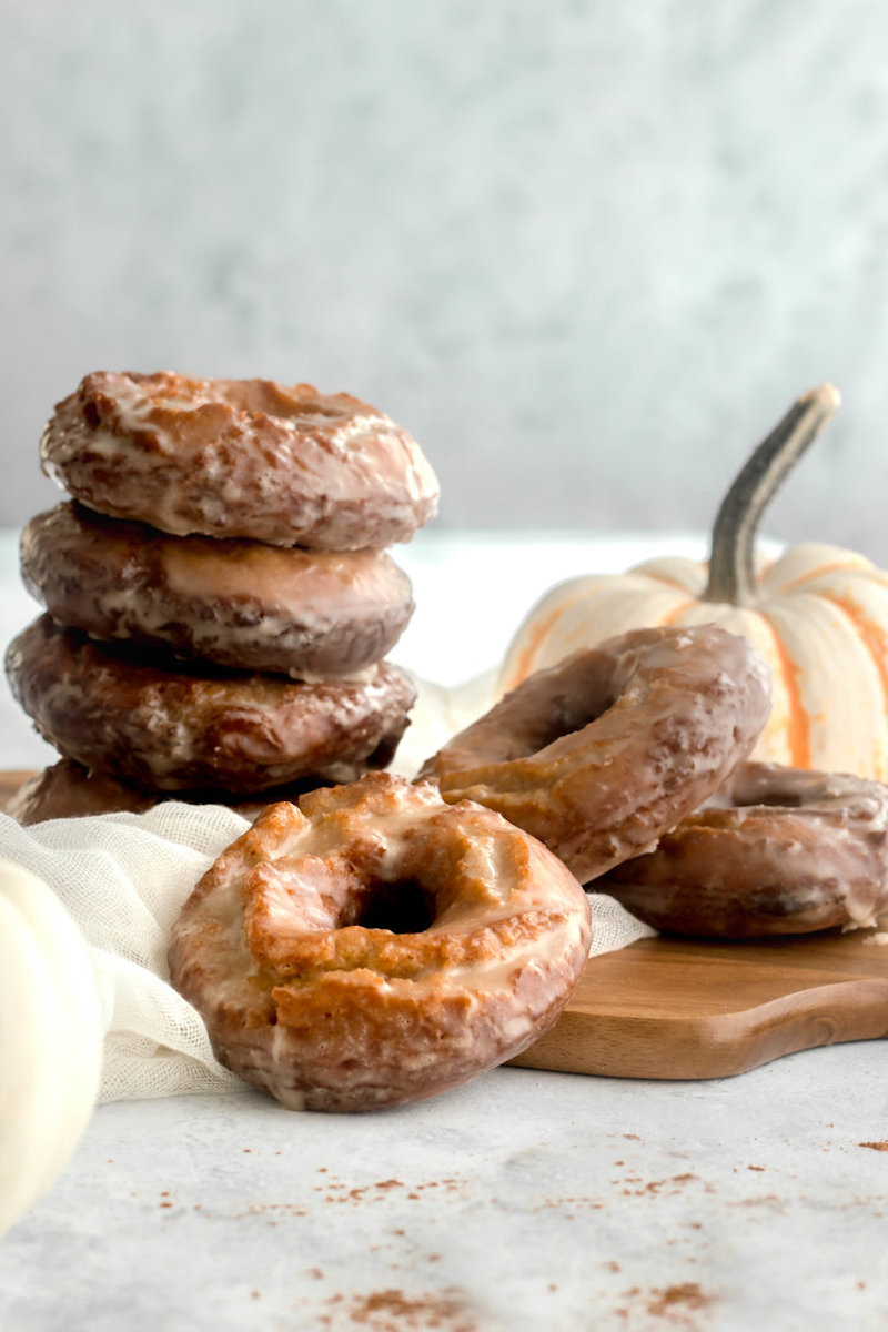Best fall donut recipes: Pumpkin Spice Old Fashioned donuts at Good Things Baking