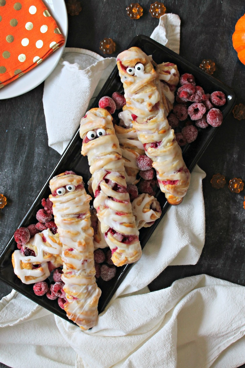 Fun Halloween breakfast ideas for kids: Danish Mummies at The Kitchen Prep