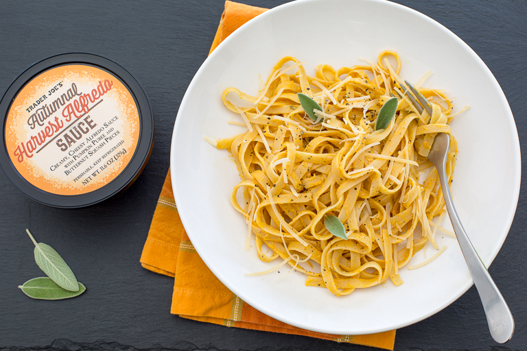 All the cool new products coming to Trader Joe's this month: Trader Joe's Autumnal Harvest Alfredo Sauce
