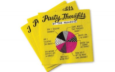 Lighten up your next party with the collection of hilarious cocktail napkins from Emily McDowell
