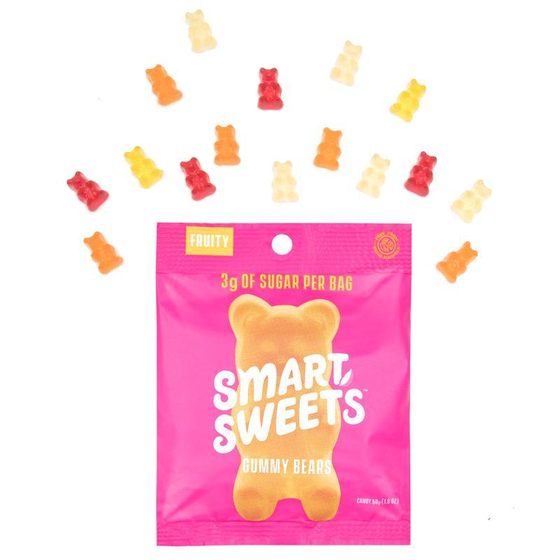 Smart Sweet gummy bears have only 3g sugar per bag and are free of common allergens