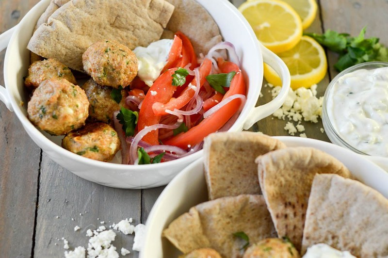 Weekly meal plan: Chicken and Feta meatballs at Ashley Munro Nutrition
