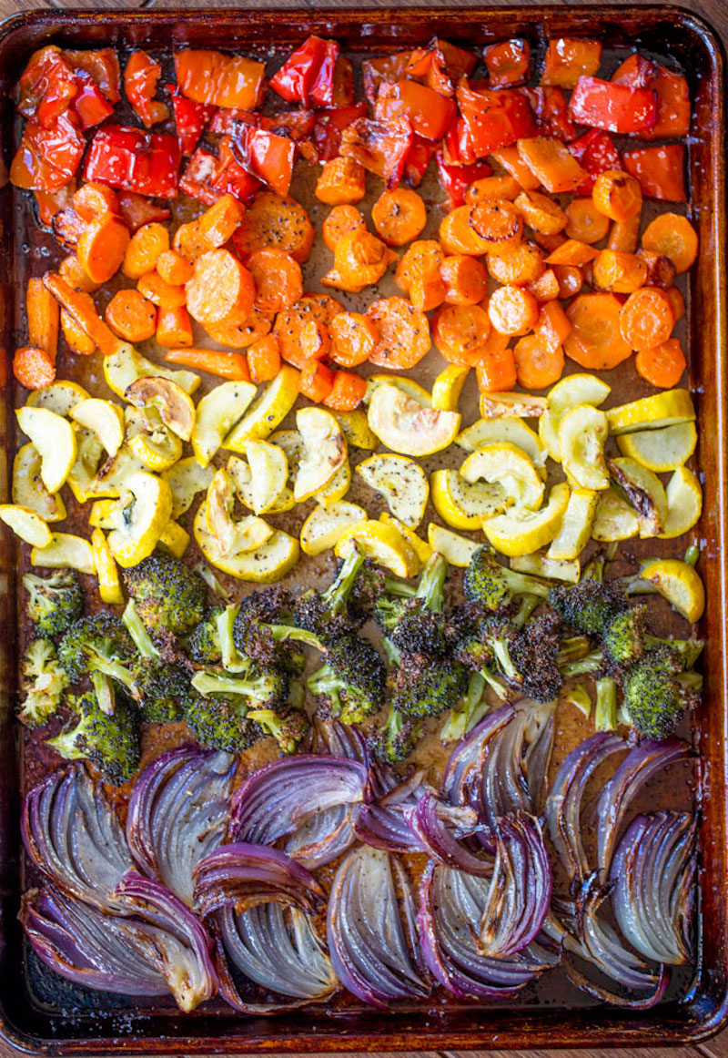 Weekly meal plan: Rainbow sheet pan dinner at Dinner, then Dessert