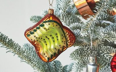 Move over candy canes. This avocado toast ornament is today's Christmas tree must-have.