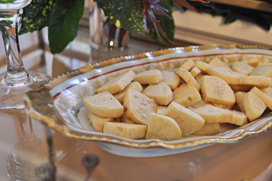 Homemade shortbread cookies with lavender salt:  My easy, go-to dessert  recipe for every holiday party.