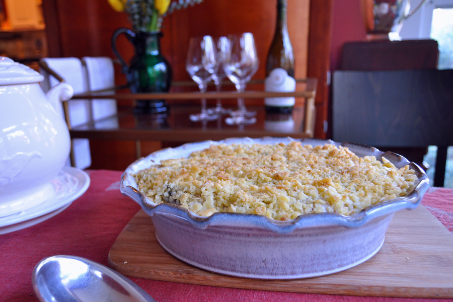 The best traditional southern oyster pie recipe: the simplest southern holiday dish on the buffet.