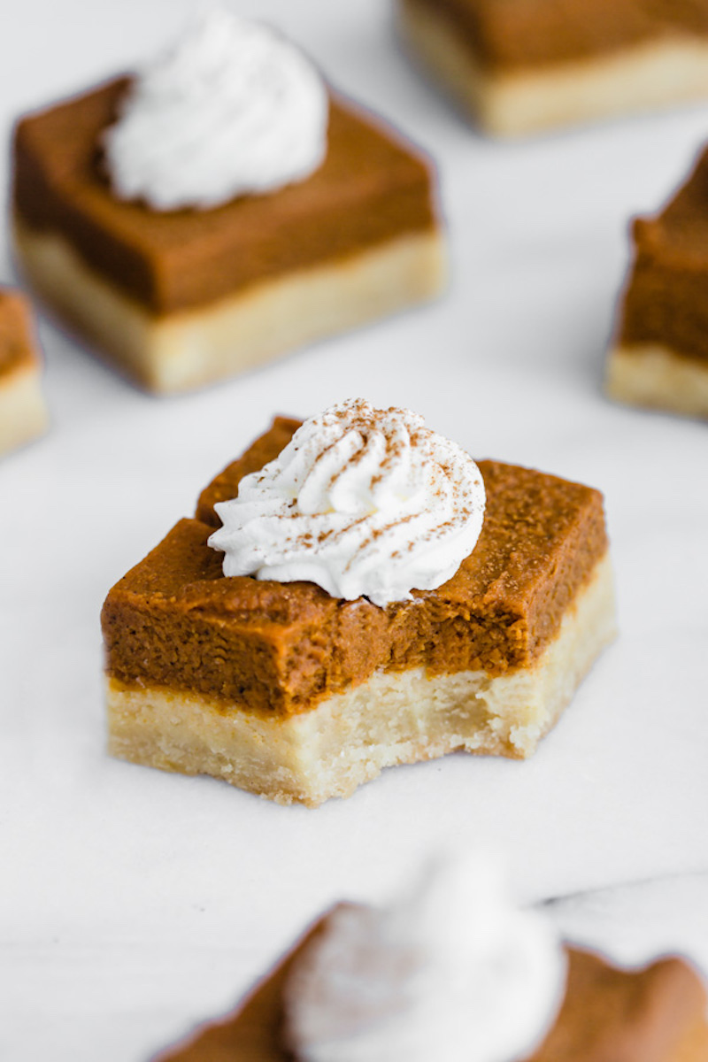 Creative pumpkin recipes for fall: Pumpkin Pie Bars at How Sweet Eats