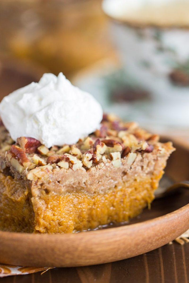 Creative pumpkin pie recipes: Upside Down Pumpkin Pie at Gold Lining Girl