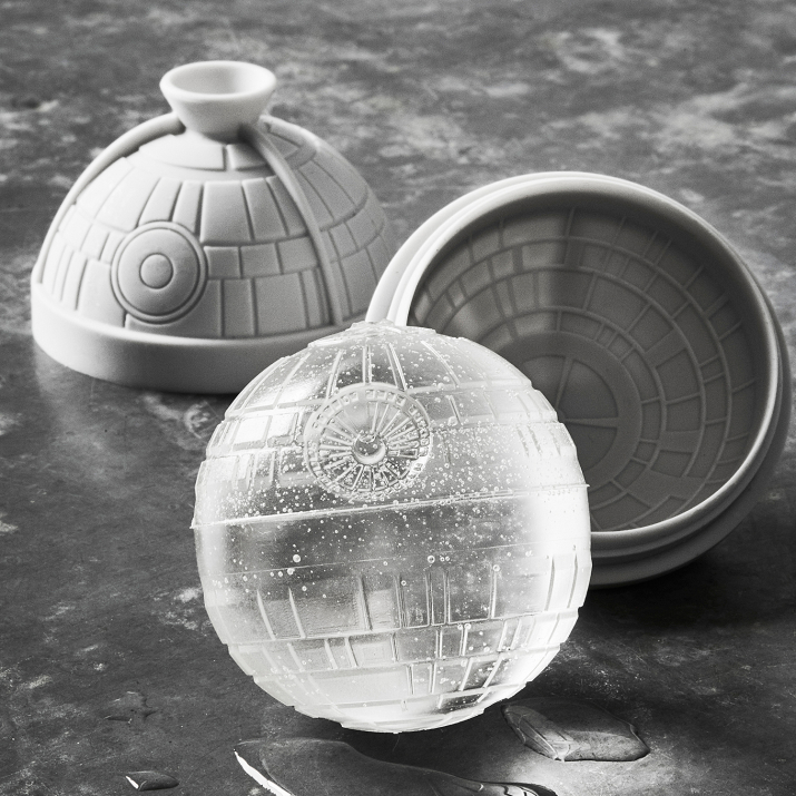 Star Wars Death Star ice mold for whiskey balls