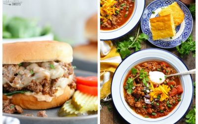 Weekly meal plan: 5 easy meals for the week ahead, including slow cooker chili & cheeseburger sloppy joes