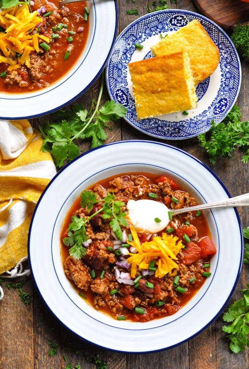 Weekly meal plan: Chili Con Carne at The Seasoned Mom