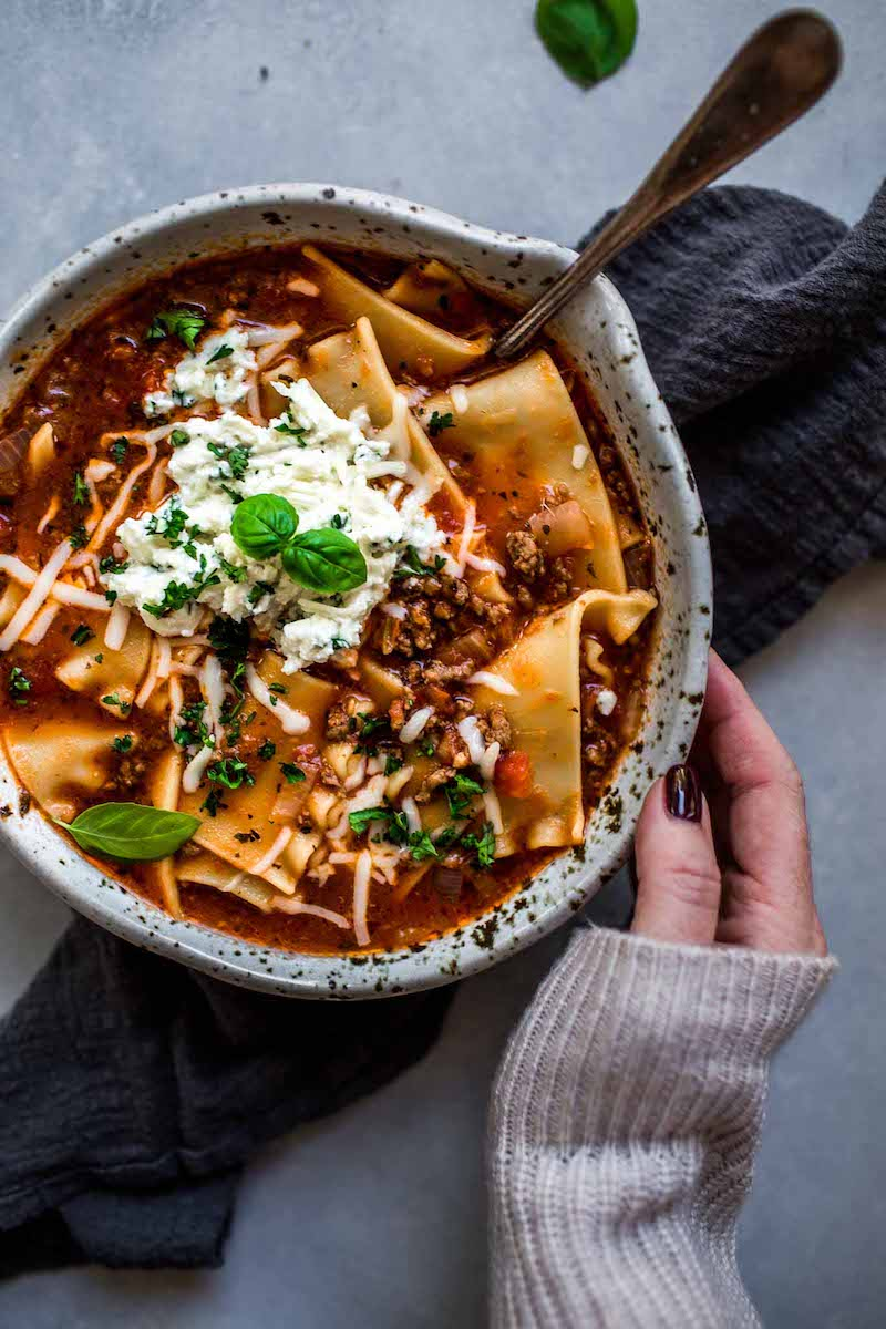 Weekly meal plan: Lasagna Soup at Platings and Pairings