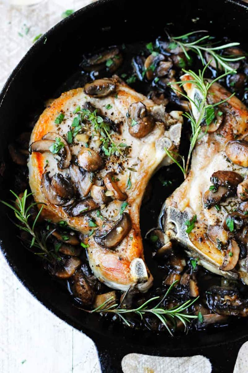 Weekly meal plan: Mushroom pork chops at Eating European