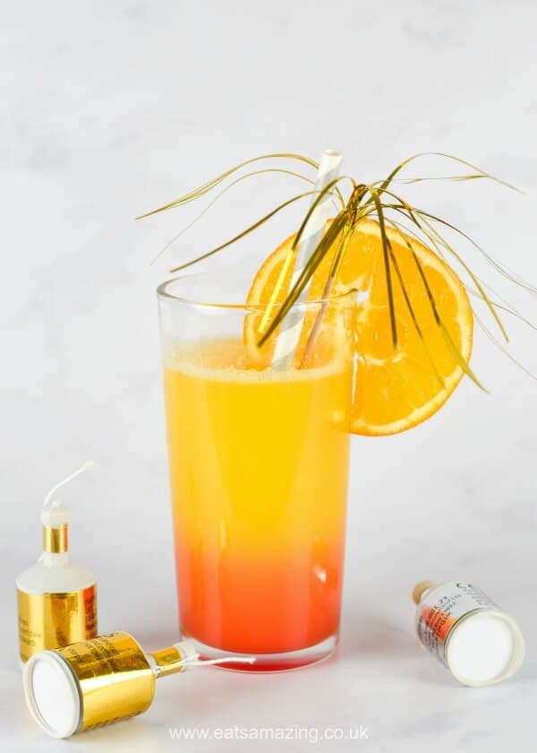 New Year's Eve mocktails for kids: New Year sunrise mocktail | Eats Amazing