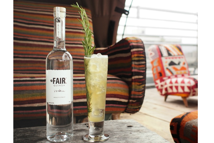 Mix it up from the usual wine hostess gift with FAIR Quinoa Vodka