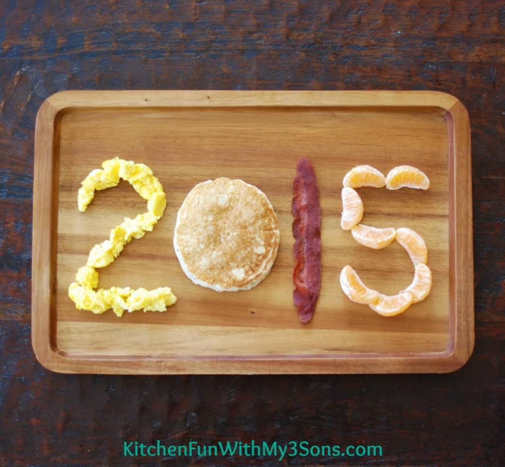 Happy New Year's-breakfast-for-kids: Kitchen Fun with my Three sons