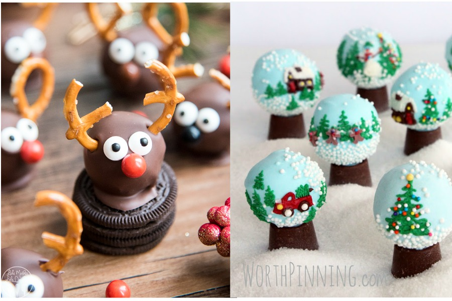 Holiday cake balls from Like Mother Like Daughter and Worth Pinning