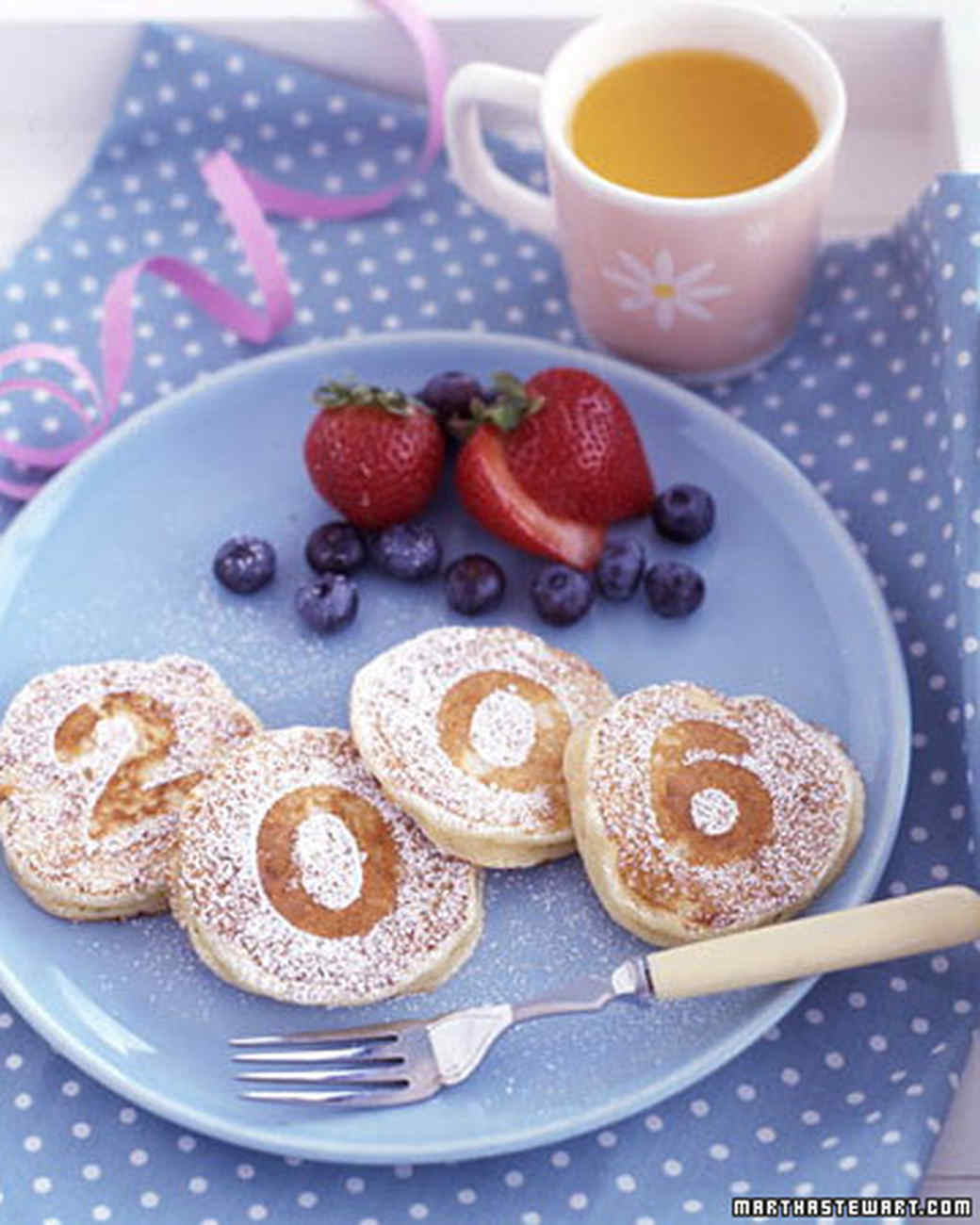 New Year's breakfast for kids: Martha Stewart pancakes