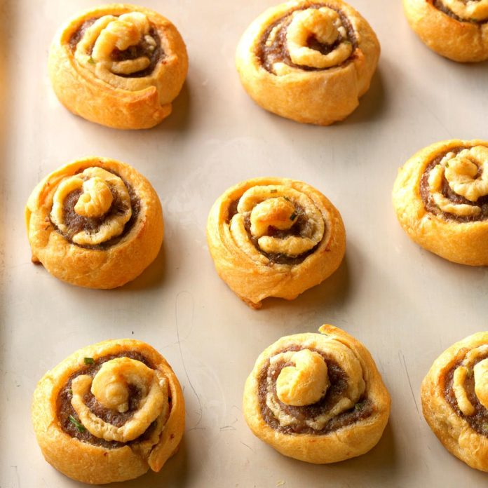 Our favorite holiday recipes: Sausage Chive Pinwheels for Christmas morning breakfast, via Taste of Home