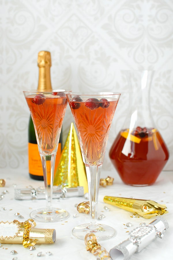 Champagne punch recipes for New Year's Eve: Sparkling cranberry-orange champagne punch | Boulder Locavore