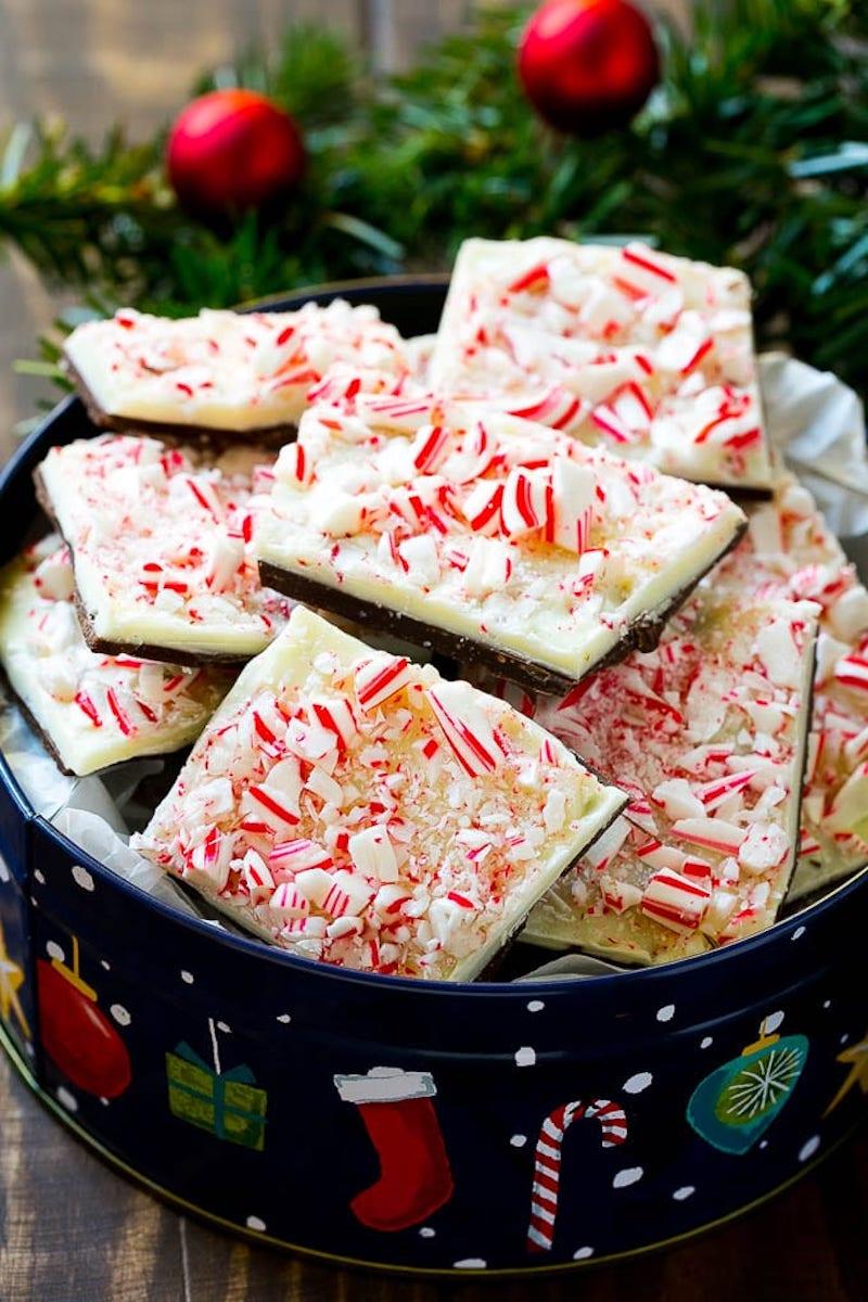 Creative Christmas bark recipes: Peppermint bark at Dinner at the Zoo