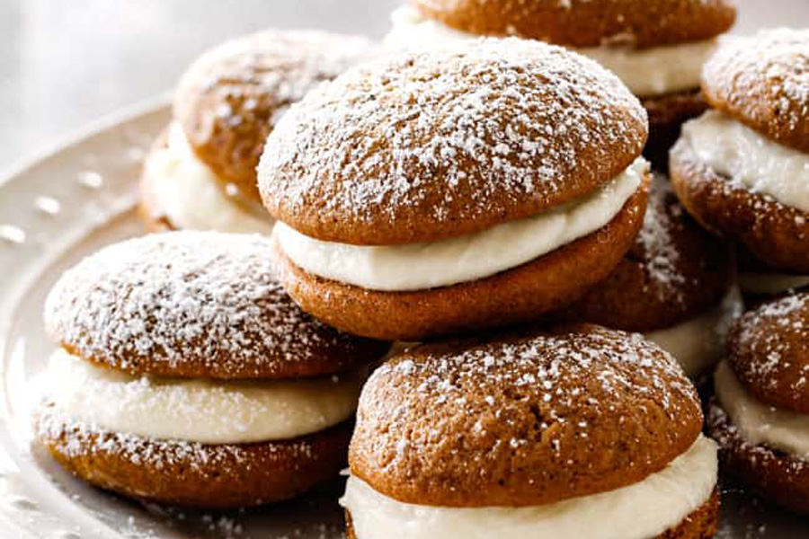 Holiday Bake Sale: Gingerbread Whoopie Pies from Carlsbad Cravings
