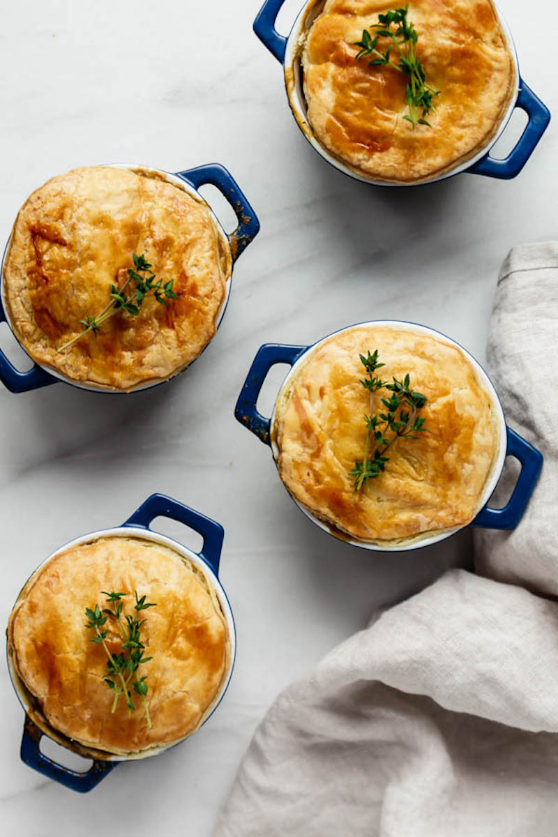 Weekly meal plan: Veggie Pot Pies at Choosing Chia