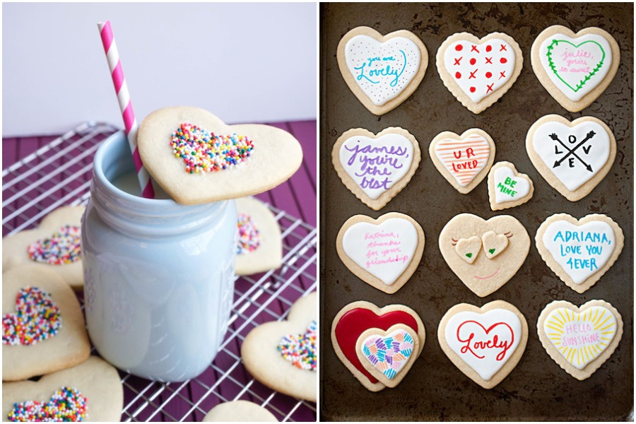 Calling all Valentines: 5 kid-friendly, easy ideas for decorating heart cookies.