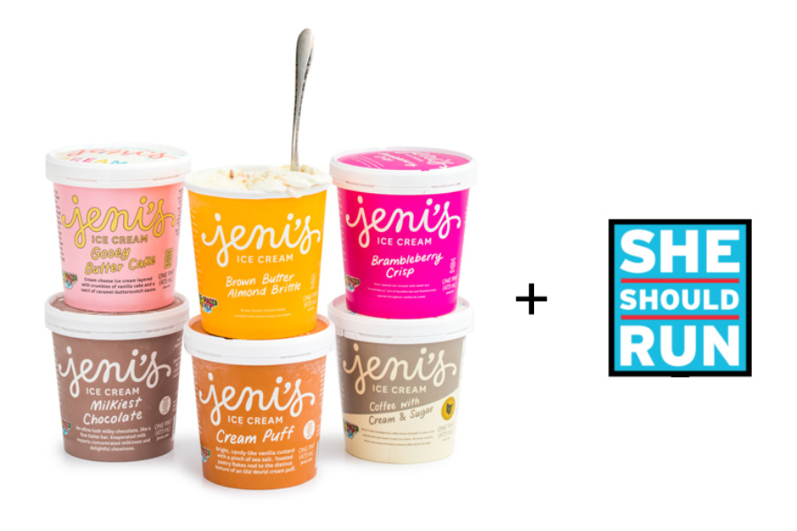 Jeni's Ice Cream for Breakfast collection is sending 100% of the profits to She Should Run. Now *that's* women supporting women!