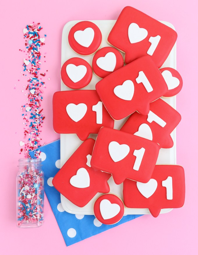 Cool Valentine's cookies for teens: Like bubble cookies from The Sprinkle factory