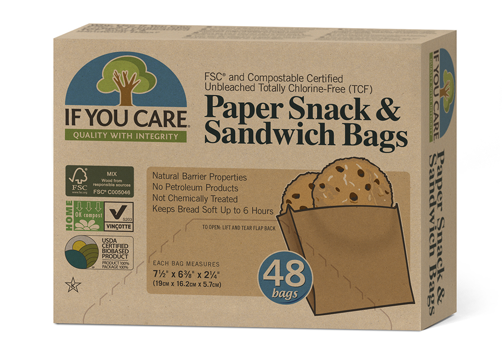 Plastic bag alternatives for school lunch: If You Care paper sandwich bags