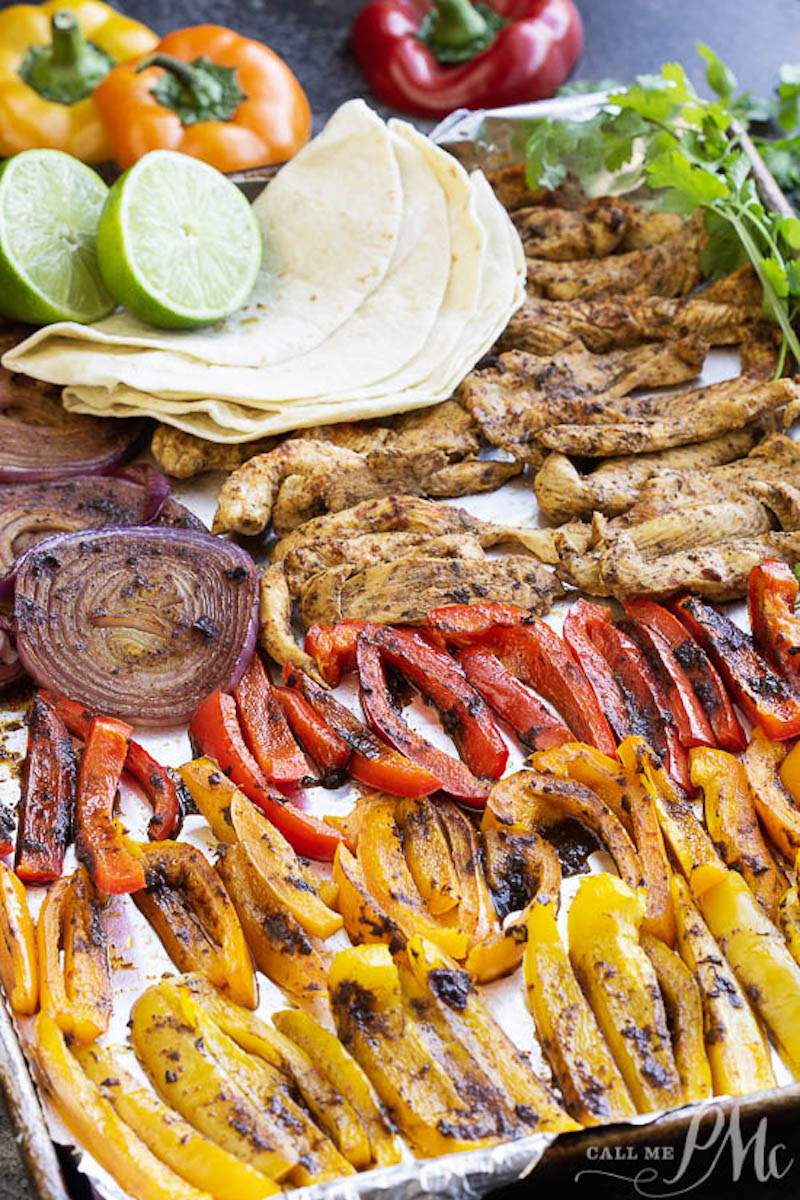 Weekly meal plan: Sheet Pan Fajitas at Call Me PMC