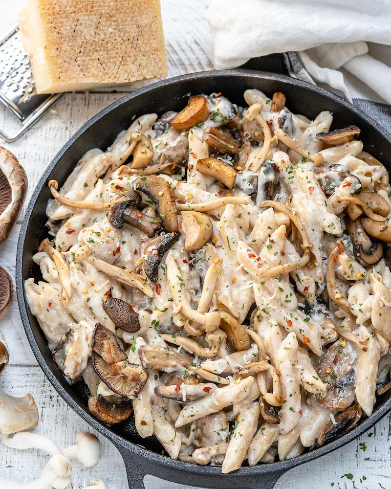 Weekly meal plan: Creamy Wild Mushroom Pasta at Healthy Fitness Meals