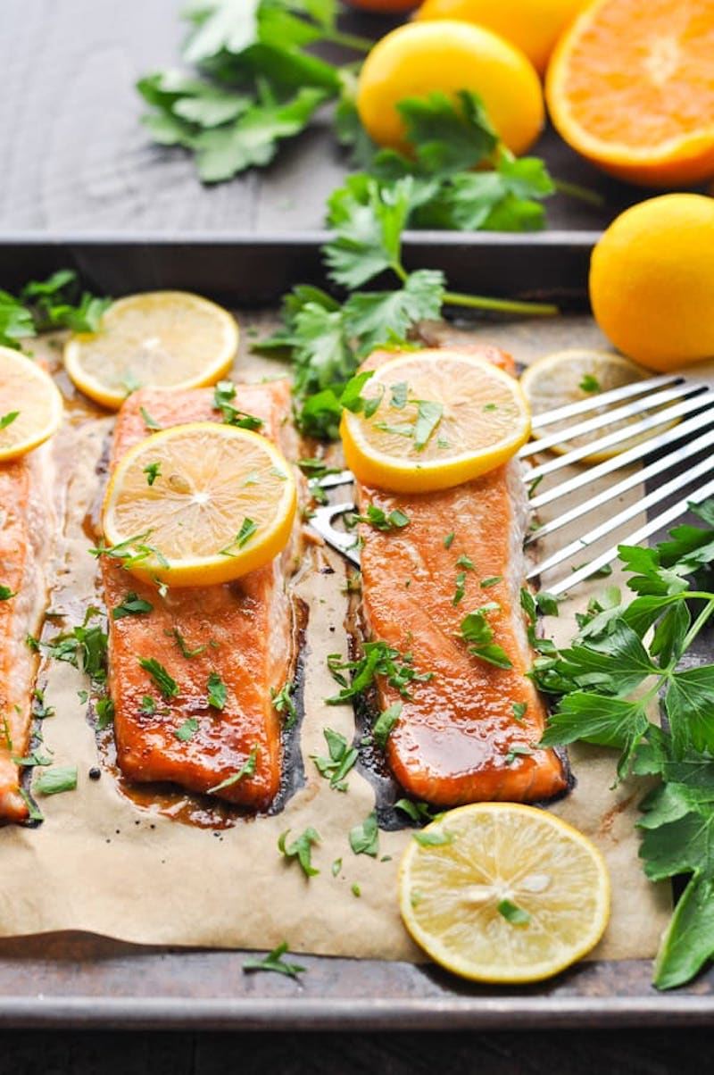 Weekly meal plan: Honey Soy Glazed Salmon at The Seasoned Mom