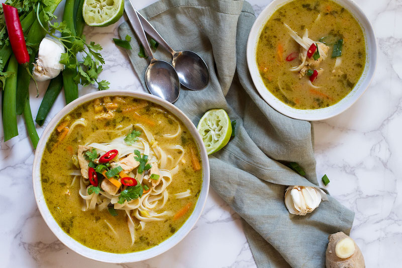 Weekly meal plan: Skinny Thai Chicken Noodle Soup at Ginger with Spice