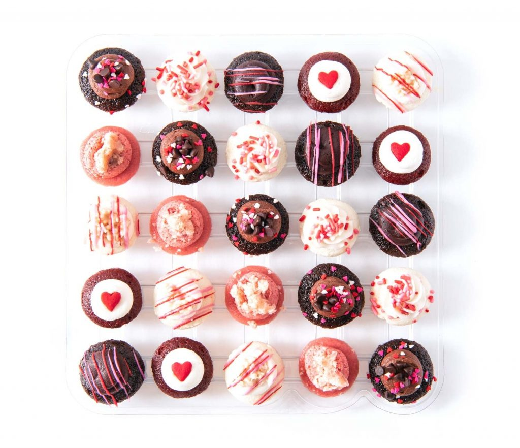 Baked by Melissa Valentine's Day mini cupcake assortments include nut-free and gluten-free boxes | Cool Mom Eats