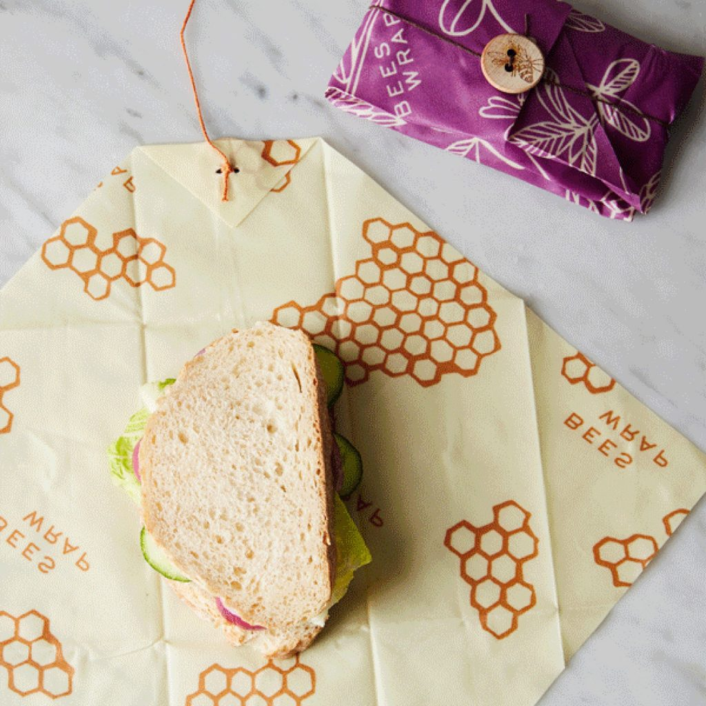 Bees wrap reusable sandwich wrap is a smart alternative to disposable baggies
