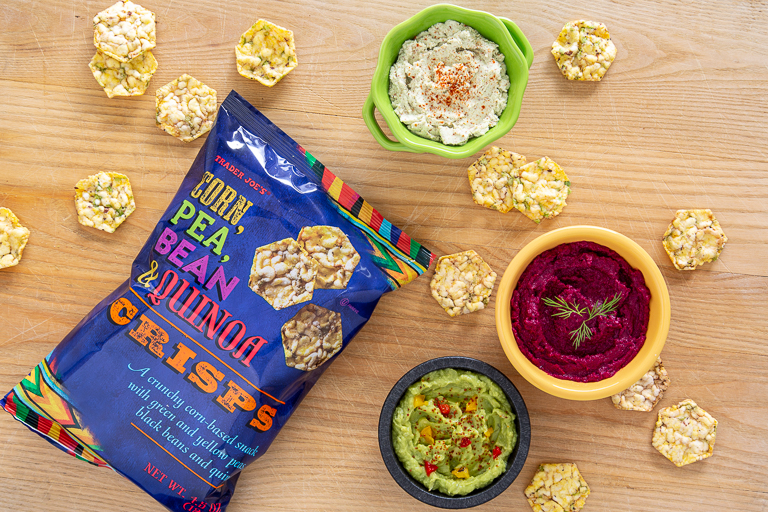 Best Trader Joe's low-sugar snacks: Corn, Pea, Bean & Quinoa